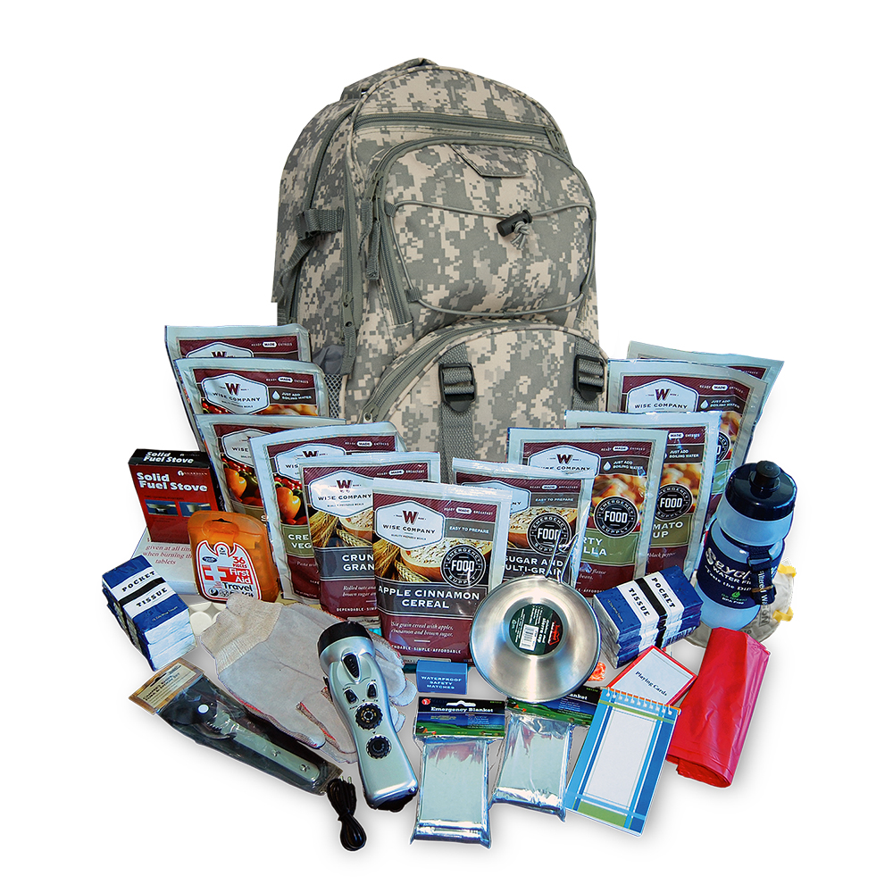 Wise Essential Survival Backpack  Camo