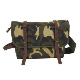 b2e49ef099 Rothco Vintage Canvas Explorer Shoulder Bag with Leather Accents
