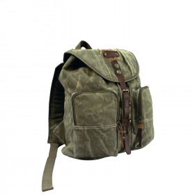 Rothco Stone Washed Canvas Backpack w/ Leather Accents