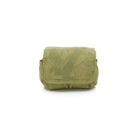 Rothco Vintage Canvas Messenger Bag - Khaki With Subdued Army Eagle Print