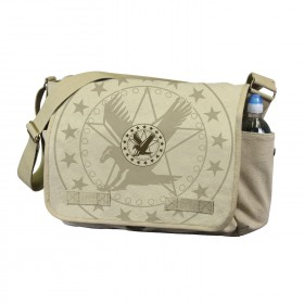 Rothco Vintage Canvas Messenger Bag w/ Exploded Army Eagle Print