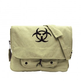 Rothco Vintage Canvas Paratrooper Bag with Bio-Hazard Symbol