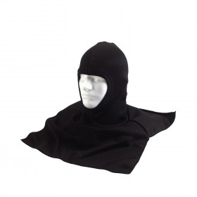 Rothco Black Polyester Balaclava with Dickie