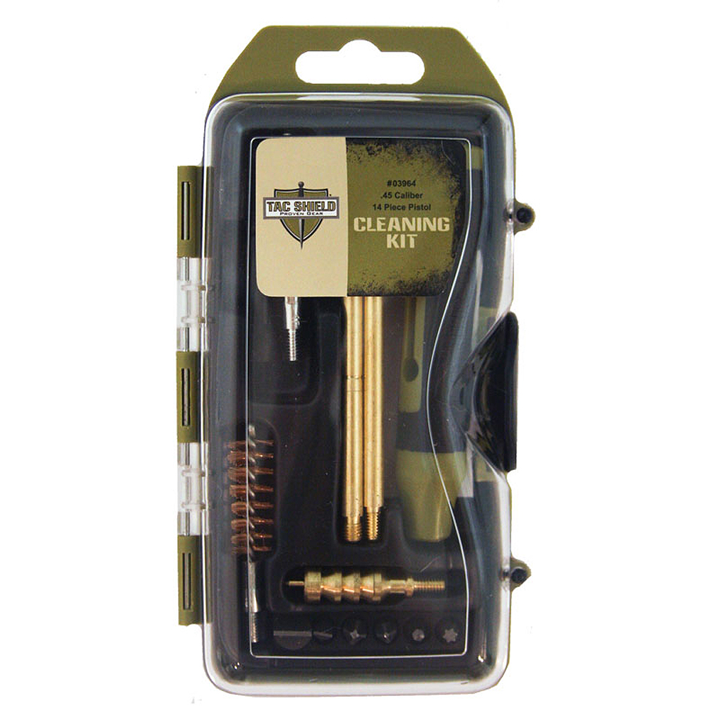 Tac Shield .45 Caliber 14 Piece Pistol Cleaning Kit
