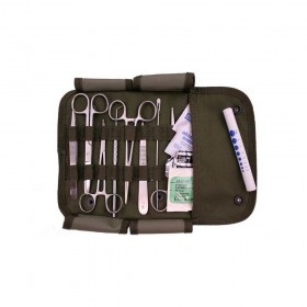 Surgical First Aid Kit with Military MOLLE Pouch - Olive Drab