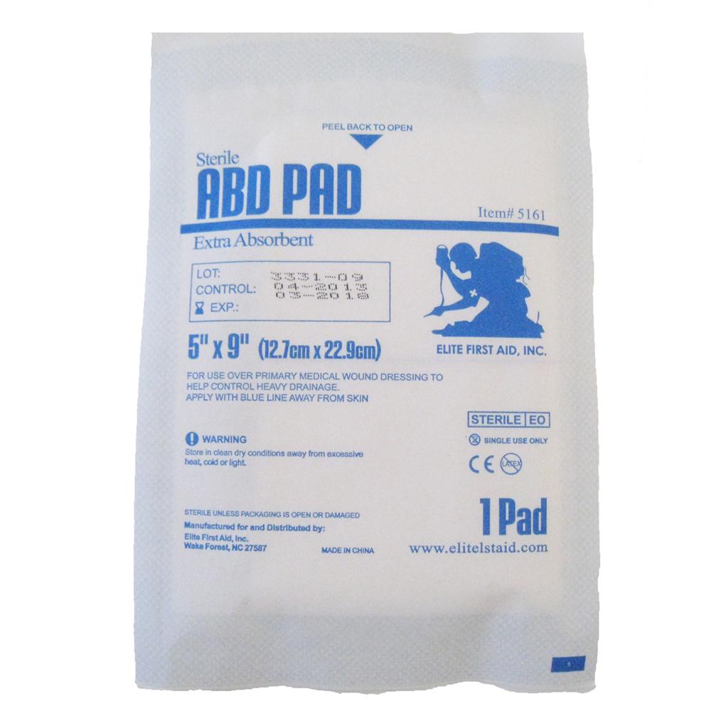 """Sterile ABD Pad 5"""" x 9"""" - Single Pad"""