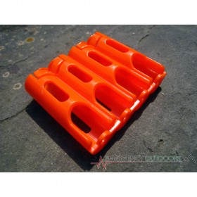 PowerPax SlimLine AA Battery Caddy Carrier - Orange