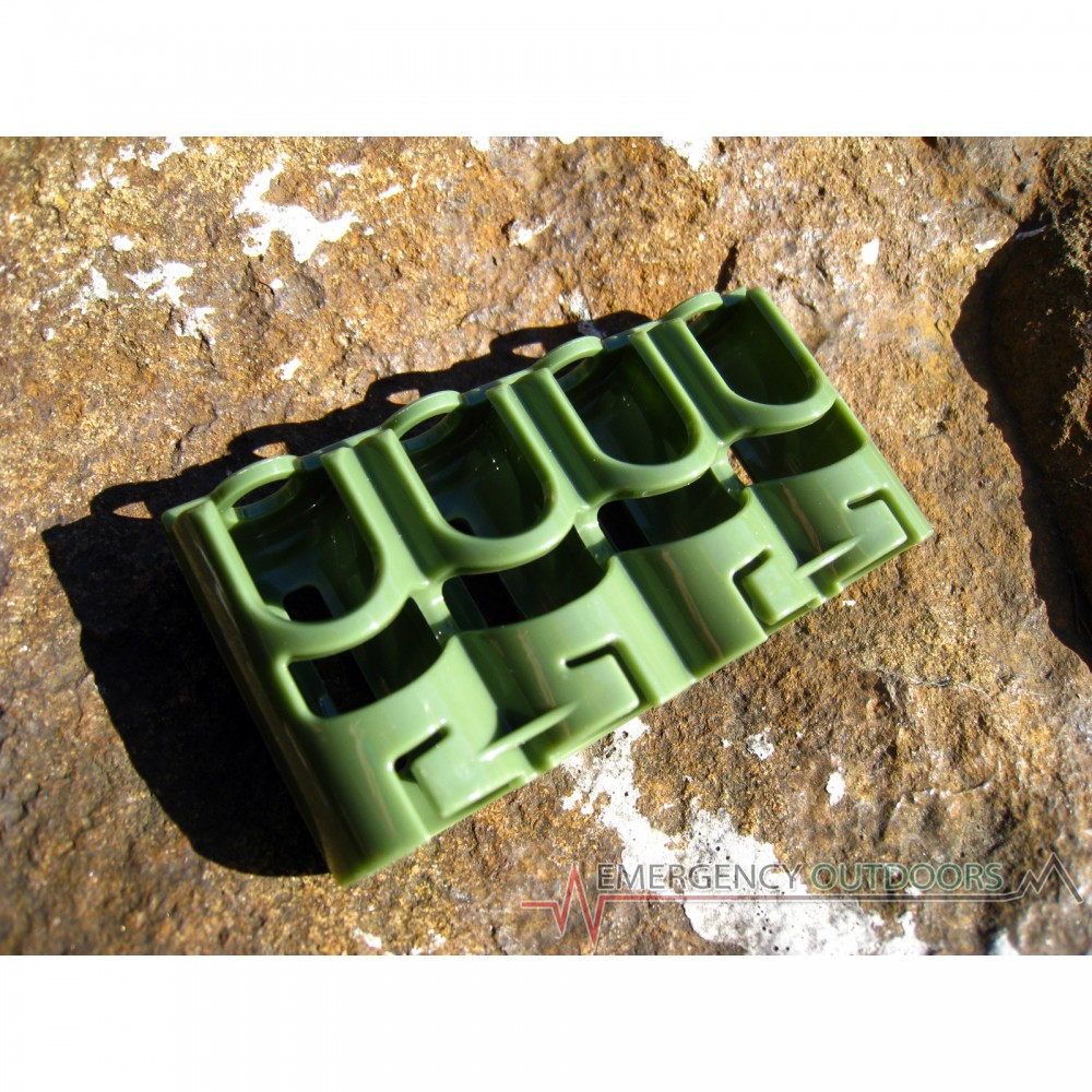 PowerPax SlimLine CR123 Battery Caddy Carrier - Military Green