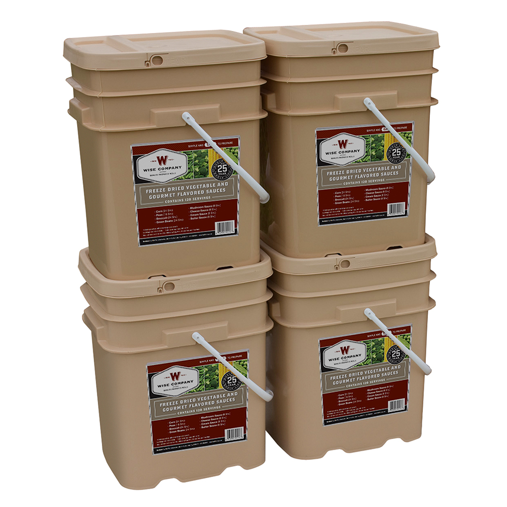 Wise 480 Serving Freeze Dried Vegetable and Gourmet Flavored Sauces