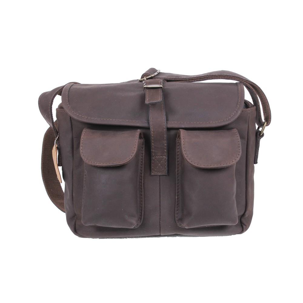 Rothco Brown Leather Ammo Shoulder Bag