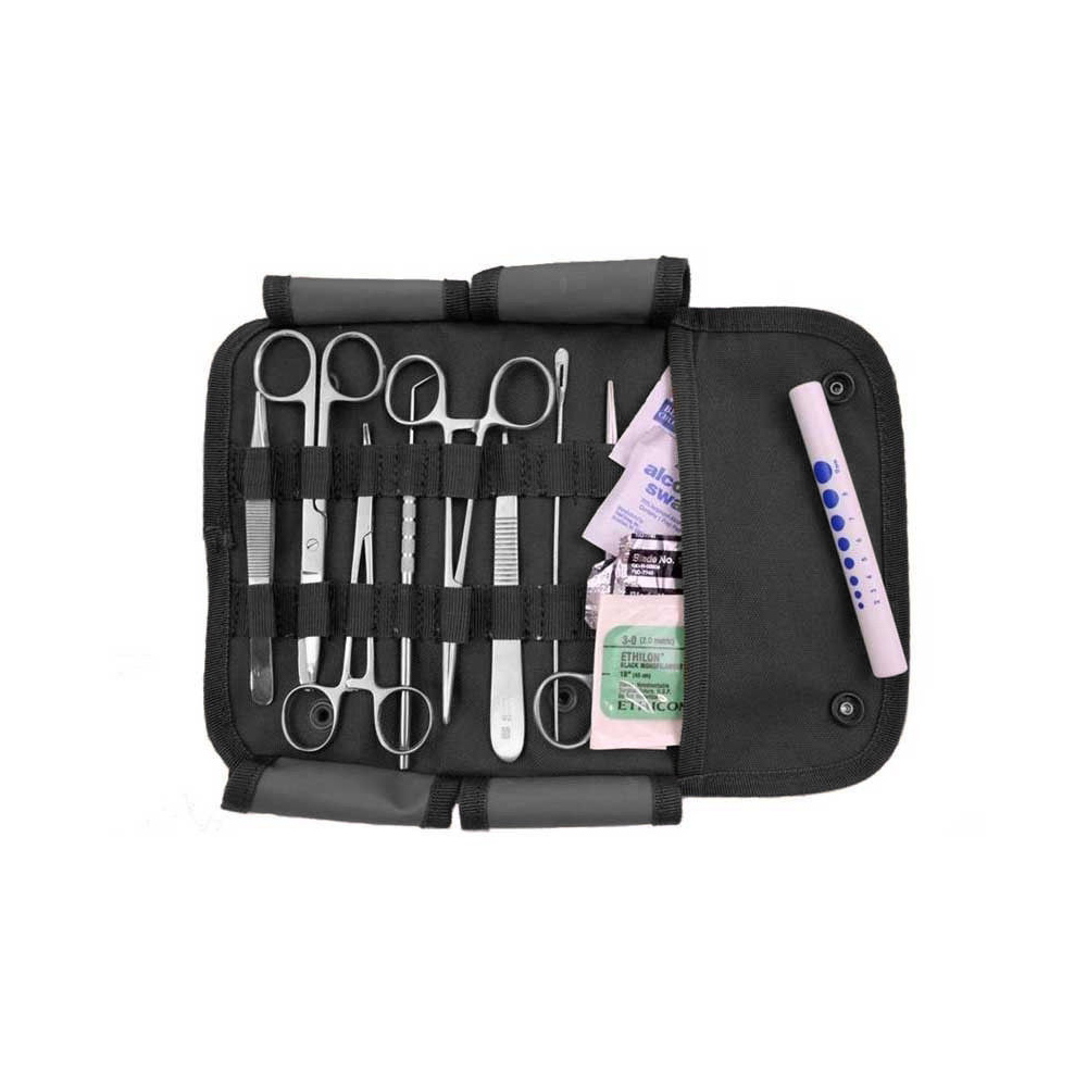 Surgical First Aid Kit with Military MOLLE Pouch - Black
