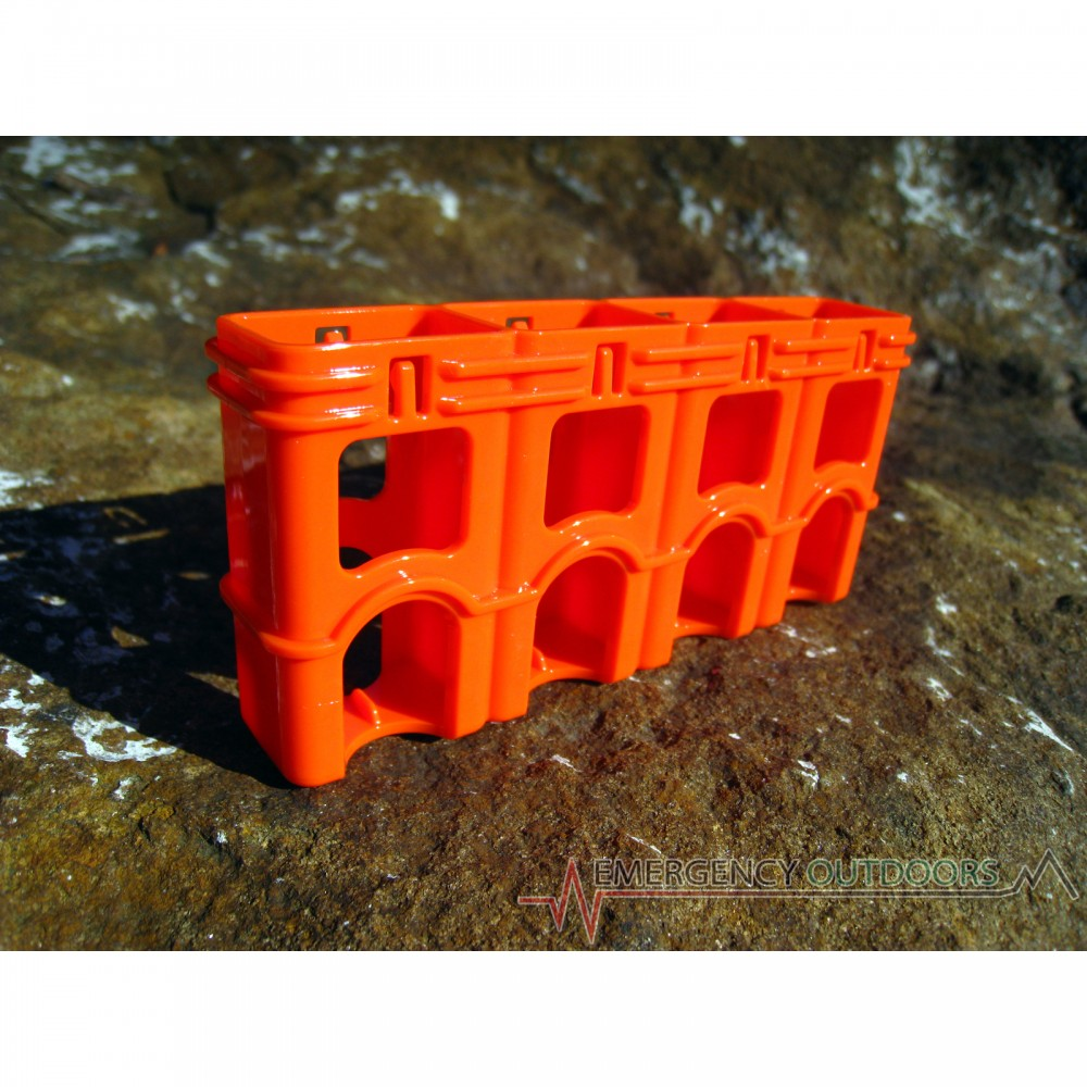 PowerPax SlimLine 9 Volt Battery Caddy Carrier - Orange