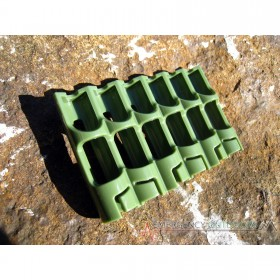 PowerPax SlimLine AAA Battery Caddy Carrier - Military Green