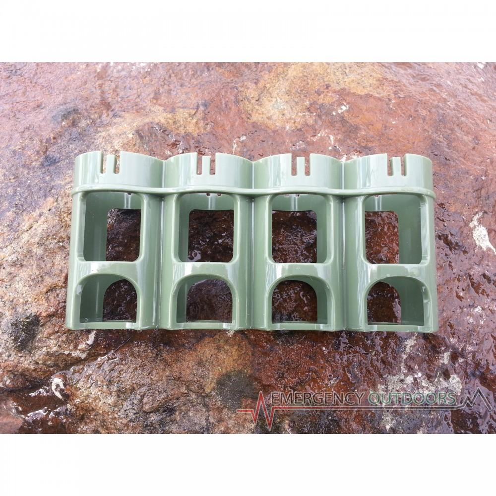 PowerPax SlimLine C4 Battery Caddy Carrier - Military Green