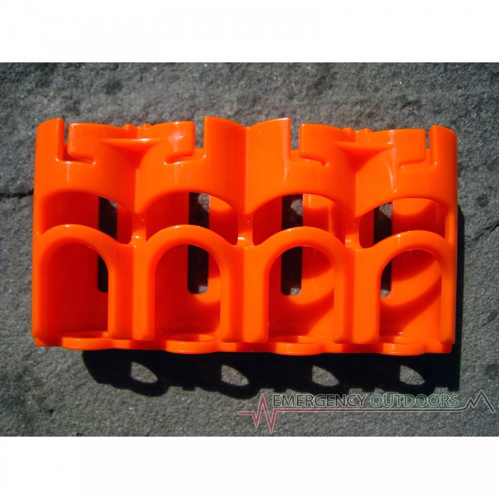 PowerPax SlimLine CR123 Battery Caddy Carrier - Orange