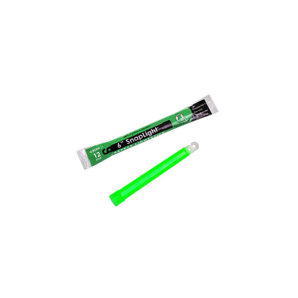 "Cyalume SnapLight Industrial Grade Light Sticks 6"" 12 Hour - Green"