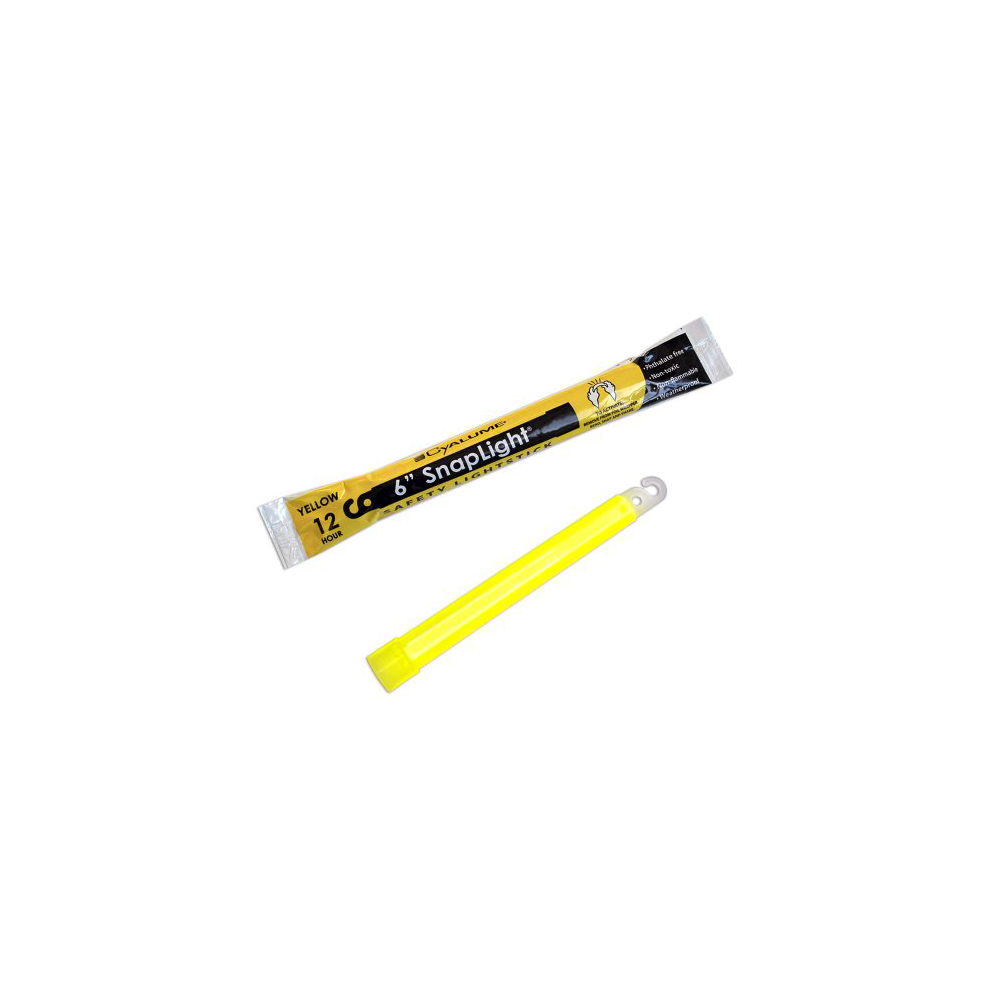 "Cyalume SnapLight Industrial Grade Light Sticks 6"" 12 Hour - Yellow"
