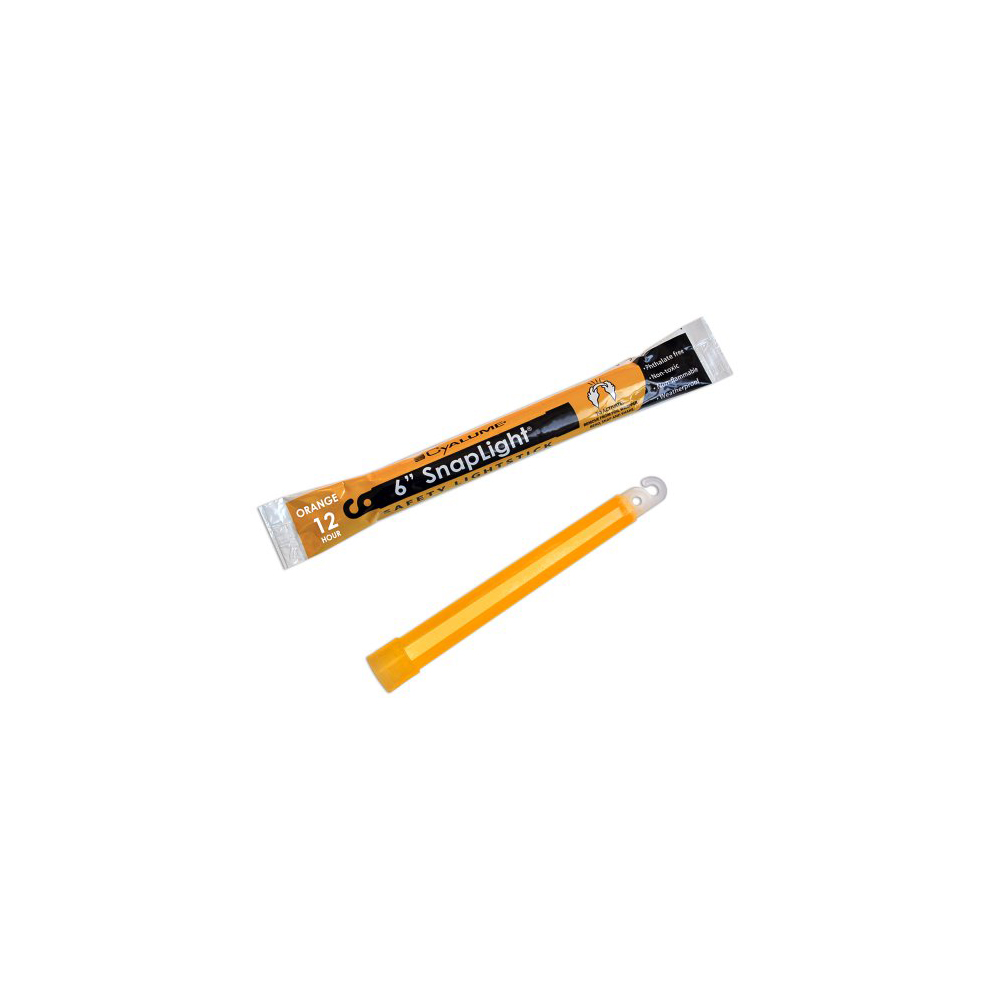 "Cyalume SnapLight Industrial Grade Light Sticks 6"" 12 Hour - Orange"