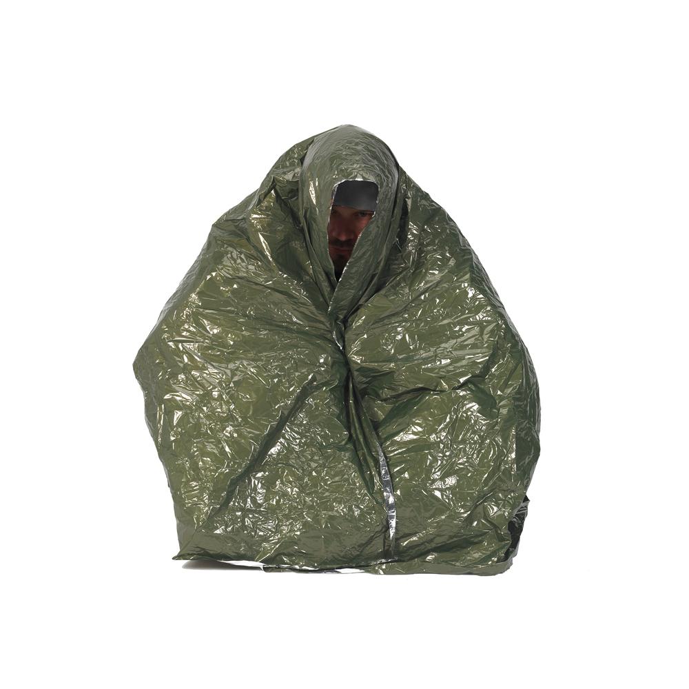 NDuR Emergency Survival Blanket - Green/Silver
