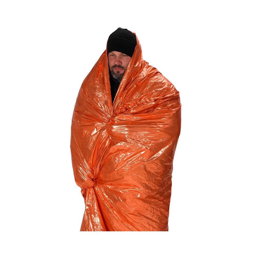 NDuR Emergency Survival Blanket - Orange/Silver